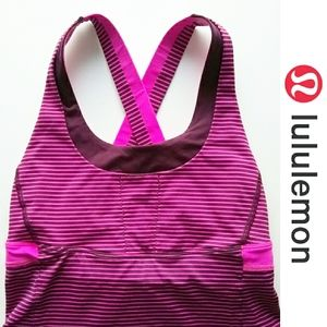 🍋LULULEMON Womens Striped Gym Athletic Tank Top S